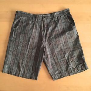 Redsand Cotton Blend Plaid Shorts Size 40